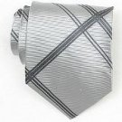 Silk Grey/D.Grey Woven Necktie