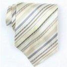 Silk Beige/Grey/Brown Woven Necktie