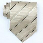 Silk Beige/Blue Woven Necktie