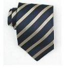 Silk Navy/Gold Woven Necktie