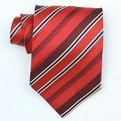 Silk Red/Burgundy/black/cream woven necktie