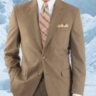 Hw0462 Men'S Modern Tan 2-Button With Double Vent Super 120'S Wool Suit