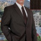 Two Button Style Brown Pinstripe Super 140'S Wool Suit (Jacket&Pants)