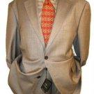 2 Btn Taupe-Beige Checker Mini Pindots Teakweave Nailhead Salt & Pepper Birdseye Patterned Suit