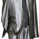 Utex Shiny 2 Button Silver Tnt Sharkskin Mens Suit