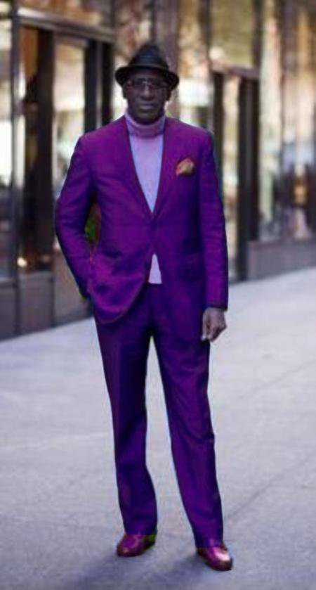 Classic Ultra Smooth 2 Button Suit Purple