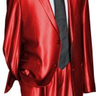 Utex Shiny 2 Button Red Tnt Sharkskin Mens Suit
