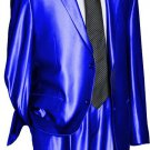 Utex Shiny 2 Button Royal Tnt Sharkskin Mens Suit