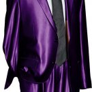 Utex Shiny 2 Button Purple Tnt Sharkskin Mens Suit