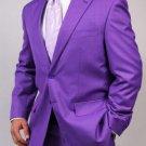 Mens Two Button Purple Suit