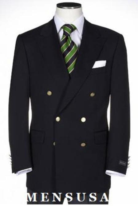 T Quality Solid Black Double Breasted Blazer With Best Cut & Fabric Mens Suit