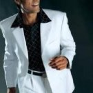 Men'S Dress Casual White Suit Wool High Twist All Year Around 3 Button Suit