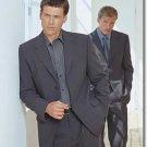 Mixture Of  Blue + Dark Gray Wool Blend 3 Button Suit