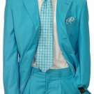 Men'S Multi-Colored Suit Collection Turquoise