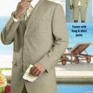 Mens Linen Fabric Summer Suit Available Oatmeal