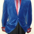 Royal Blue Velvet Blazer Jacket
