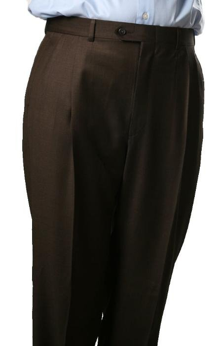 Brown Somerset Pleated Trouser
