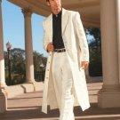Men'S Very Long Fashion Off White Zoot Suit