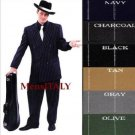 Double Breasted 6 On 2 Men'S Any Color & Bold White Pinstripe Suit+Shirt & Tie