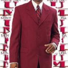 2 Or 3 Button Wine Burgundy Mens Fashion Suits (Not Long)
