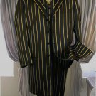 Pt-93 Black & Bold Pronounce With Gold Pin Stripe 3Pc Fashion Zoot Suit