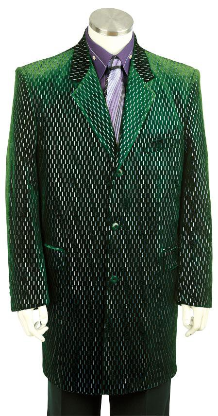 Mens Stylish Zoot Suit Olive
