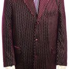 Mens Stylish Velvet Suit Raisin