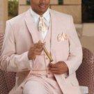 Men'S Vested Seersucker Suit Available In Shrimp Color