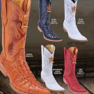 Toe Alligator Tail Print Men'S Western Cowboy Boot