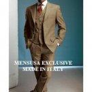 Beautiful Unique Gold/Bronz/Carmel 3 Pieces High Quality Vested Men'S Suits