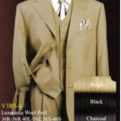 Mens Gold / Bronze Pinstripe Two 2 Buttons Style Jacket Vested Suits