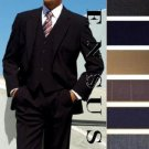 High Quality 2 Button Solid Colors Vested 100% Wool Mens Suits Comes In 5 Colors