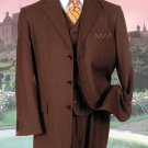 Sm-08 Brown Pinstripe Suit