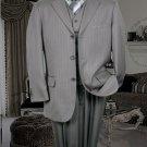 Ts-28 Nice 3Pc 3 Button Color Grey Vested Mens Suit