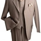 Men'S 3 Piece Premium Fine Charcoal Suit