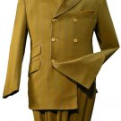 3 Button Double Breasted Fashion Suit Mustard
