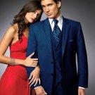 2 Btn Suit/Colored Tuxedo Satin Trim Outlines A Notch Lapel Matching Trousers Navy Blue