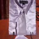 Boys Lavender Satin Dress Shirt Combo