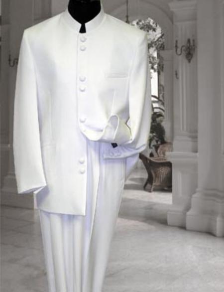 Off White Mandarin Suit