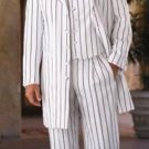 White & Any Color Pinstripe # Piece Suits Dress Fashion For Men