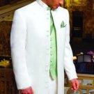 Jupiter Matrix Style White 45 Icnh Full Length Mandarin Collar 10 Button (5 X 2 Pair)
