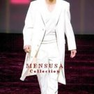 Men'S Very Long Fashion Solid Snow White Zoot Suit