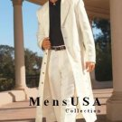 Men'S Very Long Fashion Ivory/Off White Zoot Suit