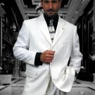 3 Buttons Solid White Extra Fine 2Pc Single Breast Suit