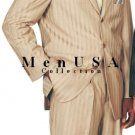 Premier Quality Italian Fabric Real Super 150'S Wool Feel Touch Poly Rayon Ton On Ton Pinstripe