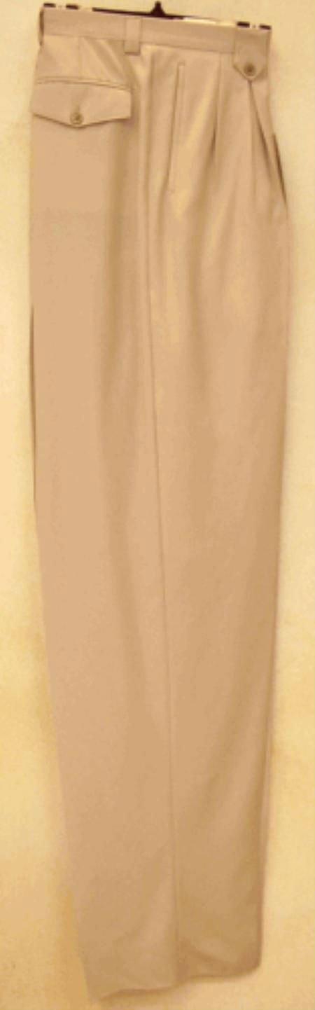 Sand Wide Leg Dress Pants