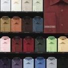 Men'S Wrinkle Free French Cuff Dress Shirt Spread Collar