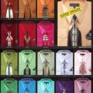 Mens New Dress Shirt And Tie Set Available In 30 Colors