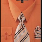 Men'S Dress Shirt - Premium Tie - Orange