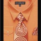 Men'S Classic Dress Shirt Orange